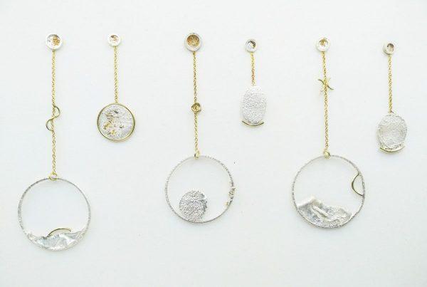 Embruix Jewels Arrecades reticulades llargues 4