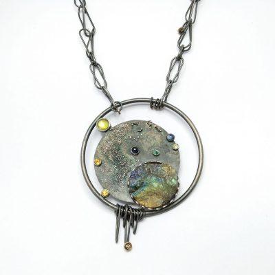 Embruix Jewels l'Univers dins d'un Cercle penjoll 1