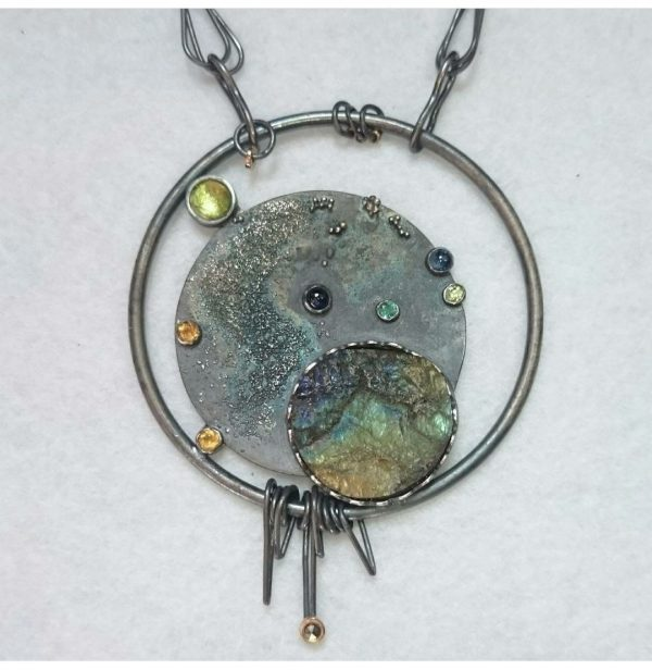 Embruix Jewels l'Univers dins d'un Cercle penjoll 2